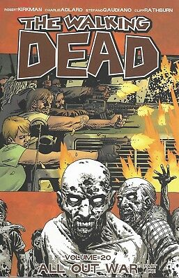 THE WALKING DEAD Volume 20 TPB issue 115-120 ALL OUT WAR Part 1 Image Comics TV