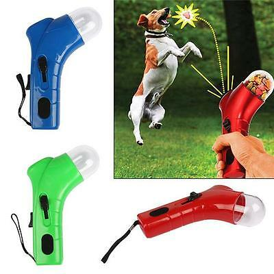 Dog Cat Treat Launcher Pet Interactive Fun Snack Food Giving Training Feeder Toy