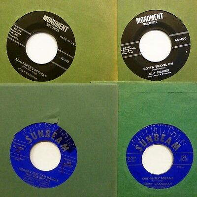 COUNTRY lot of 4x45 rpm singles BILLY GRAMMER, Gerry Grahahan 1958     Ct1711