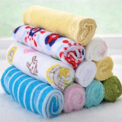 8Pcs Baby Infant Newborn Bath Towel Washcloth Bathing Feeding Wipe Cloth Soft J