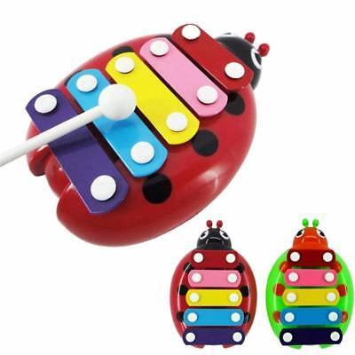 Baby Child Kid 5-Note Xylophone Musical Toys Wisdom Development Toy Beetle Gift