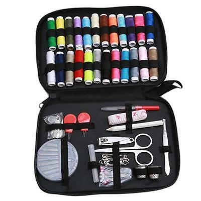 Sewing Box Set Kit Needle Scissor Storage Thread Thimble Measure Travel Tools J