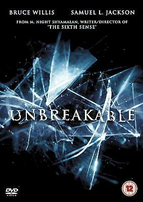 UNBREAKABLE (2000): Bruce Willis, Samuel L. Jackson, preq Glass - Rg2 DVD not US