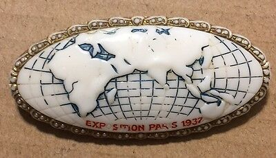 World's Fair Exposition Paris 1937 Pin Used Preowned Collectors