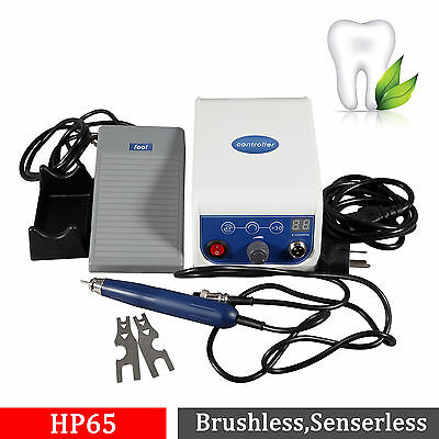 Dental Lab Marathon Brushless Micromotor & 50K RPM Polishing Handpiece BLDC Ca