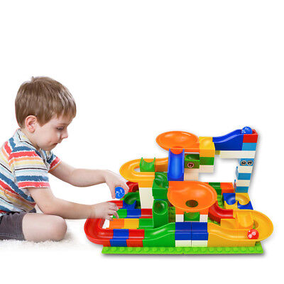 52Pcs DIY Marble Maze Ball ABS Funnel Slide Track Building Blocks Toy For Kids