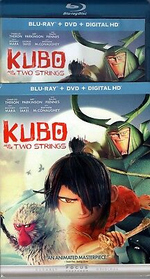 Kubo and the Two Strings Blu-Ray only, NO DVD or DIGITAL DOWNLOAD~FREE SHIPPING