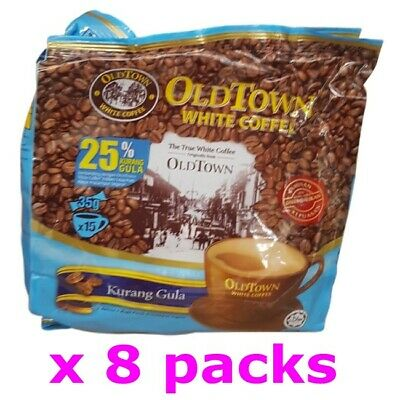 Old Town White Coffee Less Sugar Oldtown 3 in 1 Instant white coffee (35gx 120s)
