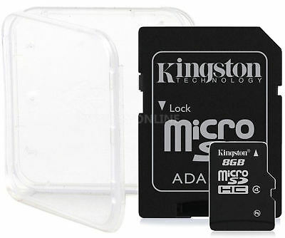 3 PACK 8GB KINGSTON CLASS 4 micro SD SDHC microSD Flash Memory Card Lot + CASE