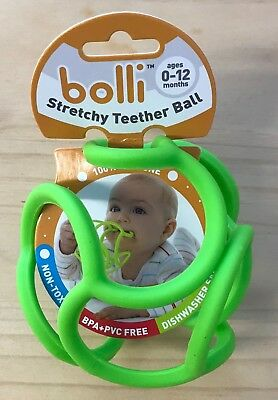 Bolli BL002-GR Tactile and Sensory Teether Ball - Green