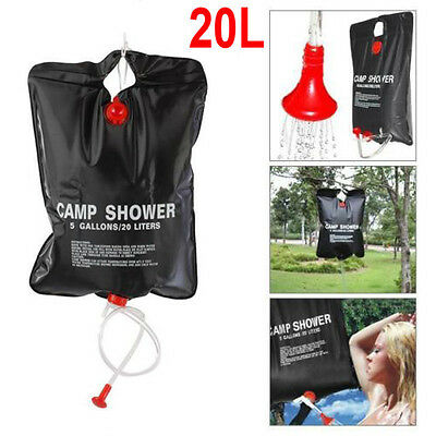 20L Shower Camping Solar Energy Heated Water Bag Camp PVC Outdoor Travel Hiking