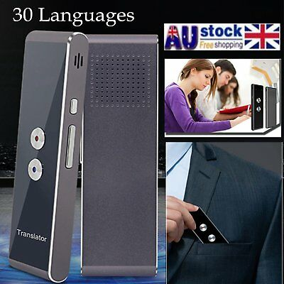 Intelligent Translator 30 Languages Instant Voice Travel Pocket Device Trans #AU