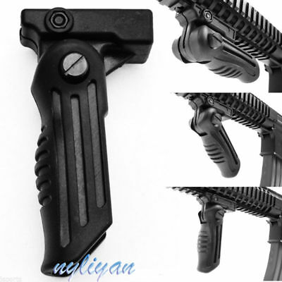 Adjustable Folding Foregrip Hand Fore Grip 20mm Picatinny Weaver Rail For Rifle