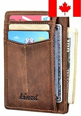 Slim Wallet RFID Front Pocket Wallet Minimalist Secure Thin Credit Card Holde...