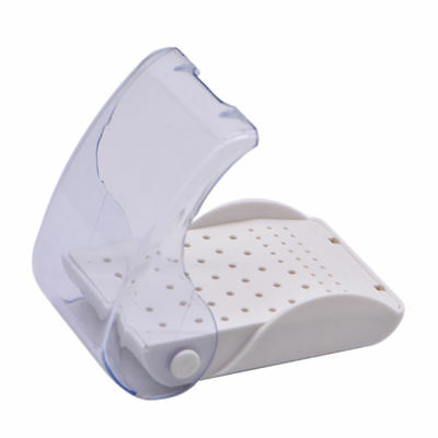 60 Holes Dental Plastic Bur Block Case Placement Drill Disinfection Holder White