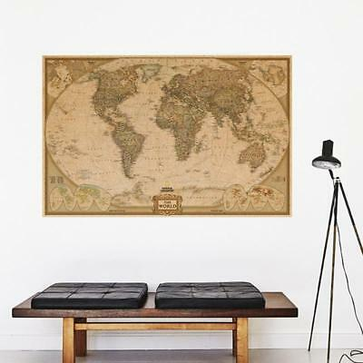 Retro Vintage Globe Old World Map Matte Antique Paper Poster Wall Home Decor New