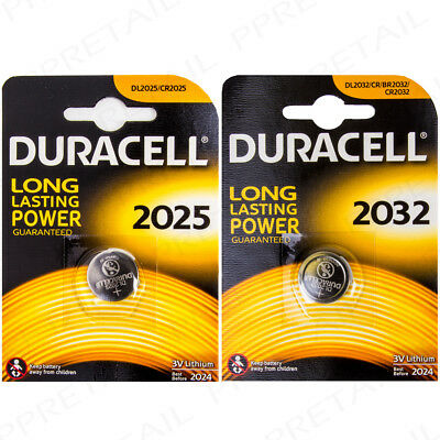 DURACELL 3V Lithium Watch Batteries 2032/2025 Coin Cell Battery LONG LIFE CR/DL