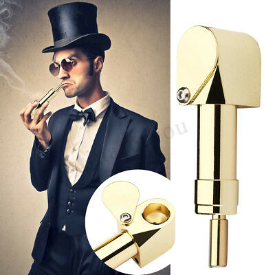 Portable Metal Tobacco Smoking Solid Proto Cylinder Brass Chamber Storage Pipe