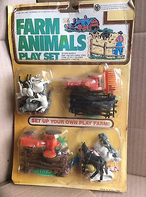 Set Texas Farm Animals Play Set * OVP * Altes aus der DM Zeit *