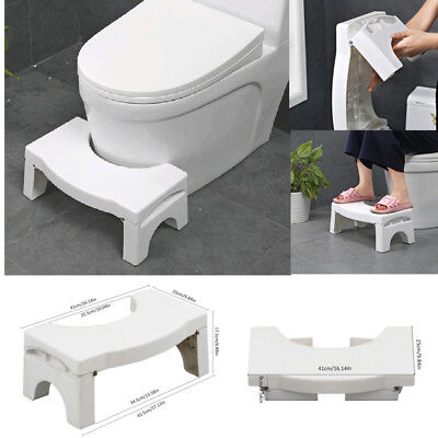 Bathroom Step Stool Toilet Potty Squat Aid Constipation Piles Relief