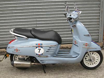 Peugeot Django 125cc Martini Scorpion exhaust 18 REG 1 owner only 976 miles