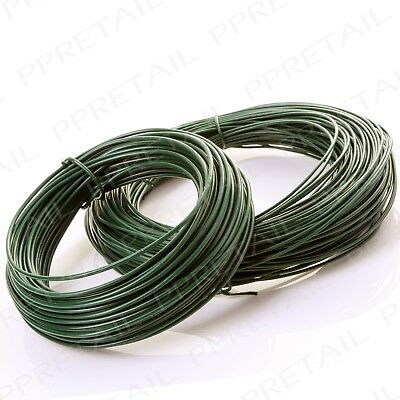 15m & 30m Long PVC Coated Garden Wire Set Camouflage Plant Support Fencing Coil