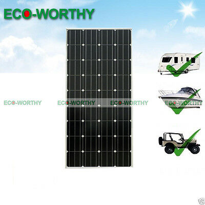 100W 12V PV Mono Solar Panel for Camp Yacht Charge Solar Power Home off Grid