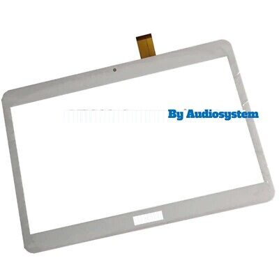 "Vetro+ Touch Screen Per Tablet Archos Access 101 3G T161-N 10.1"" Display Bianco"