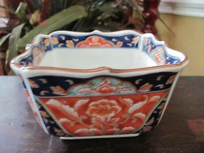 Vintage/Antique Oriental Hand-Painted? Ornamental Square Dish Made In Japan?