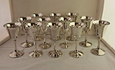 Fb Rogers Italy Silverplate Cordial Chalice Goblet (12)  5.75 Inch