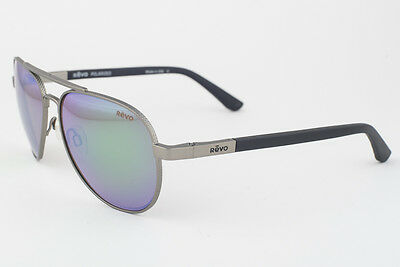 ea1f7c77538 REVO 1011-00 GN Raconteur Gunmetal   Greem Polarized Mirrored Sunglasses -   199.50