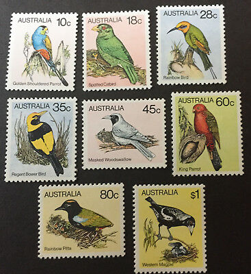 Australia 1980-82 Birds Set Of 8 Mint Never Hinged.