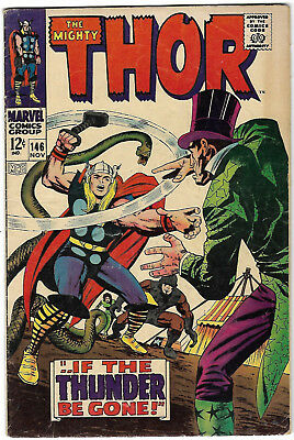 """1967. """"The Mighty THOR"""". Vintage Marvel comic Vol.1 #146. VG."""