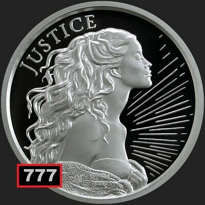 2018 1oz JUSTICE  #1 IN SERIES Proof WASTWEET SILVER SHIELD GROUP SSG 777