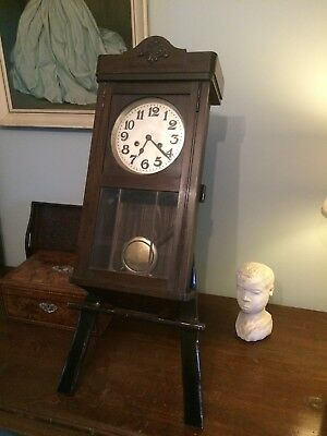 Vintage Wooden Wall Clock Pendulum collect only Cw12