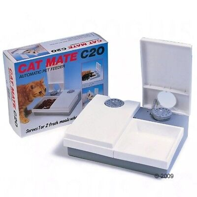 CAT MATE C20 AUTOMATIC PET FEEDER FOR A CAT KITTEN PUPPIES SMALL DOG New