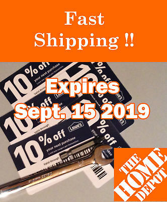 (20𝓧) Lowes 10% ᴏff Competitor Oɴʟʏ Coupons | Home Depot | EXP SEPTEMBER 2019