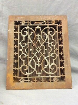 Antique Cast Iron Decorative Heat Grate Floor Register 10X12 Vintage Old 15-19D
