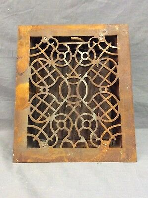 Antique Cast Iron Decorative Heat Grate Floor Register 10X12 Vintage Old 16-19D
