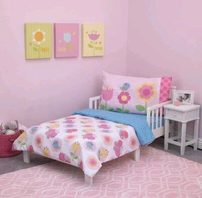 Everything Kids Garden Party 4 Piece Toddler Bedding Set