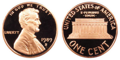 1989-S  Proof Lincoln Cent Nice Coins Priced Right Shipped FREE