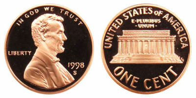 1998-S  Proof Lincoln Cent Nice Coins Priced Right Shipped FREE