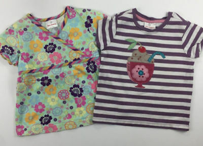 Hanna Andersson Girls 110 Two Shirts Ice Cream Floral US 5
