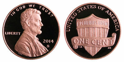 2014-S  Proof Lincoln Shield Cent Nice Coins Priced Right Shipped FREE