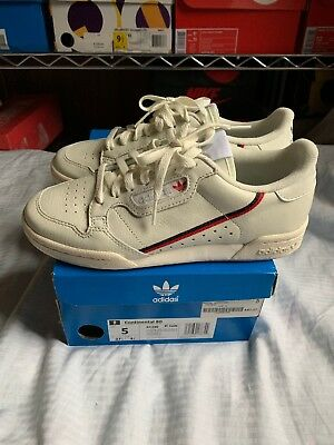 new style 94674 e3bfb Adidas Originals Continental 80 Rascal Off White Mens Sneakers Shoes B41680  USED