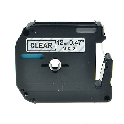 MK131 MK-131 M-K131 Black on ClearLabel Tape For Brother P-Touch 9mm 12mm