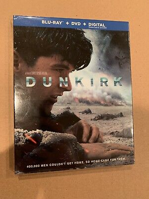 Dunkirk SEALED Blu-ray/DVD/Digital 3-Disc Set FREE SHIPPING Slipcover Included