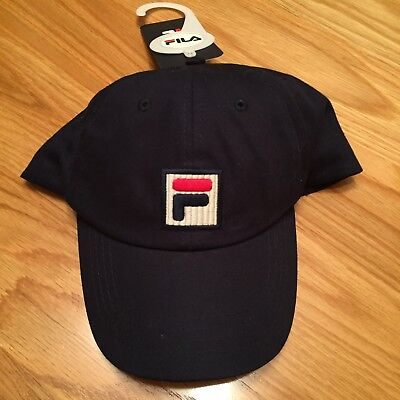 373e3763780 FILA VINTAGE HUMPHREY Baseball Cap in Navy Blue - cotton curved peak ...