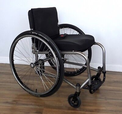 TiLite TRC titanium ultralight wheelchair, Schwalbe Marathon Plus tires, Ti-Lite