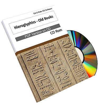 Ancient Egyptian Hieroglyphics Old Books on CD Dictionary Learn Teach Study 204